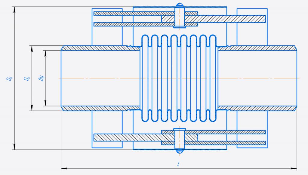 КСП 100-10 - Компенсатор сильфонныи%U0306 поворотныи%U0306.png
